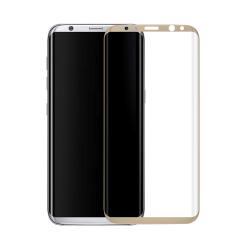 Πλήρες προστατευτικό γυαλί, No Brand, Για Samsung Galaxy S8, 0.3mm, Χρυσός - 52290