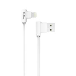 Кαλώδιο δεδομένων DeTech De-21i, Lightning (iPhone 5/6/7 / SE), 1.0m, Λευκό - 14130