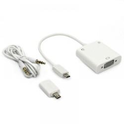 Μετατροπέας MHL σε VGA + Audio, ΟΕΜ, Λευκό - 18292