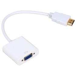 Μετατροπέας HDMI M - VGA F 0.15m, No brand, Λευκό - 18153