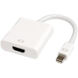 Μετατροπέας Mini DP M - HDMI F 10cm, DeTech, Λευκό - 18154