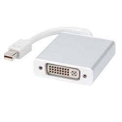 Μετατροπέας Mini DP M - DVI F 10cm, DeTech, Λευκό - 18156