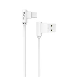 Kαλώδιο δεδομένων DeTech DE-21M, Micro USB, 1.0m, λευκό - 14129