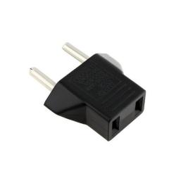 Adapter No brand BX-9619, US to EU, CEE 7/16, 220V, High Quality, Black - 17705