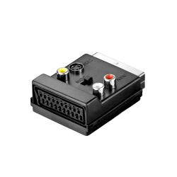 Adapter, No brand, SCART to AV, Μαύρο - 17105