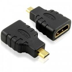 Αντάπτορας HDMI F - Micro Hdmi M, DeTech, Μαύρο - 17120