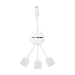 USB Hub ΟΕΜ USB 3.1 Type-C, 3 Ports, Λευκό - 12050