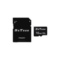 Memory card DeTech Micro SDHC-I, 16GB, Class 10 + Adapter - 62043