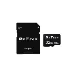 Memory card DeTech Micro SDHC-I, 32GB, Class 10 + Adapter - 62044
