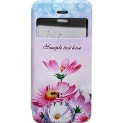 Θήκη No brand για το iPhone 6 / 6δ, Τεχνητό δέρμα, Δέρμα, λουλούδι εκτύπωσης -51150