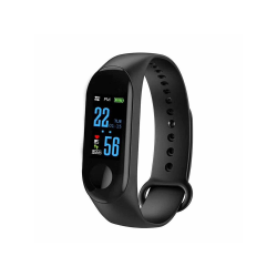 Smart bracelet No brand M3, 18mm, Bluetooth, IP67, Μαυρο - 73047